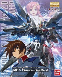 ZGMF-X10A Freedom Gundam Ver.2.0 & Kira Yamato (Dramatic Combination: MG x Figure-RiseBust) MG 1/100